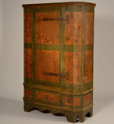 Painted Cupboard with One Drawer - Jelly Cupboard - Dig Antiques