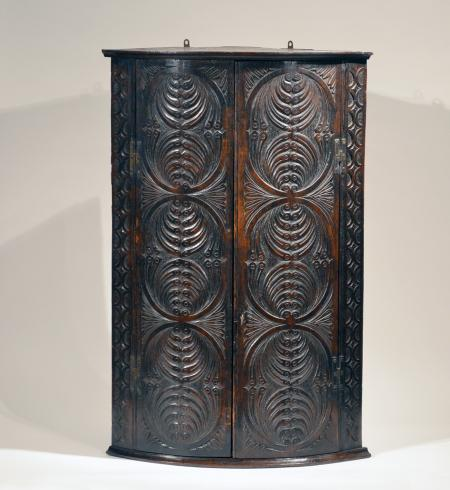 Superb Carved Corner Cupboard - R13460