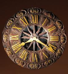Fantastic Carved Wooden Faced Tower Clock - RDA15163