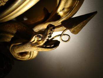 Girandole Mirror with  Snakes and Eagle