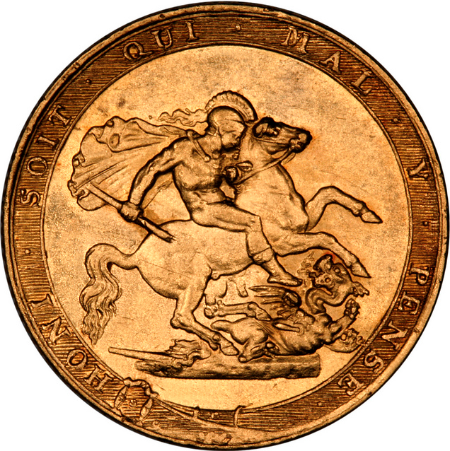 1817 Gold Sovereign With St. George