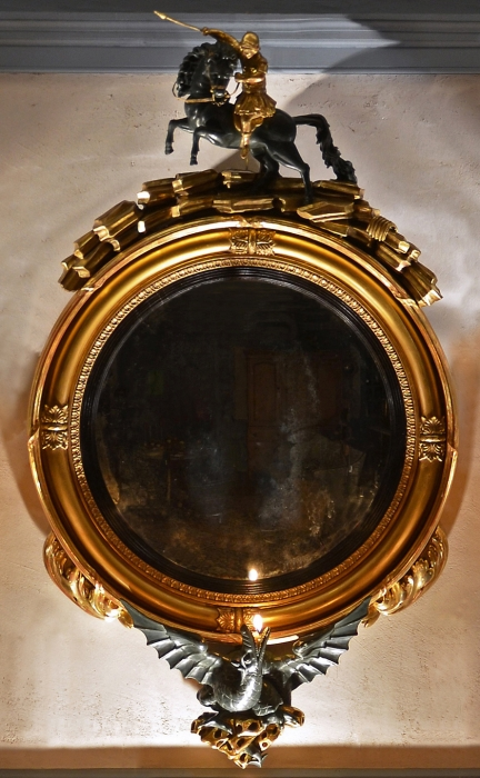 Saint George and the Dragon Convex Mirror