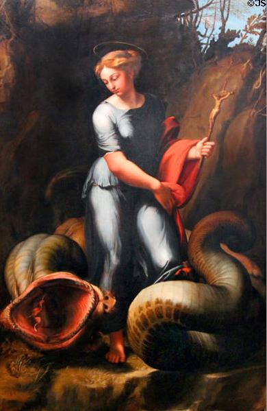 Saint Margaret by Giulio Romano in the Kunsthistorisches Museum Vienna