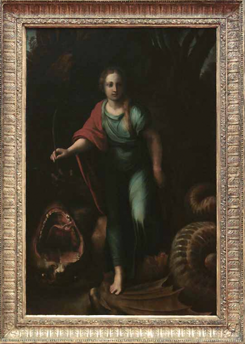 Saint Margaret by Giulio Romano in the Louvre