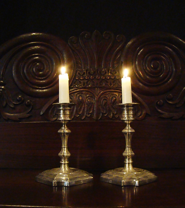 Pair of Silver Plate Candlesticks