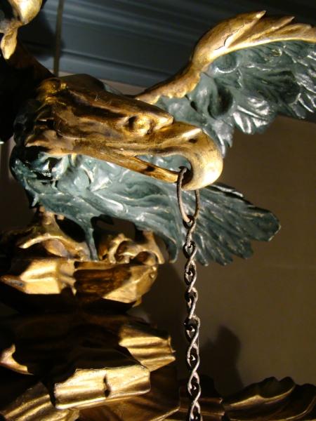 Girandole Mirror with Eagle and Snakes
