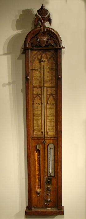 Admiral Fitzroy Barometer in Oak Case c.1885