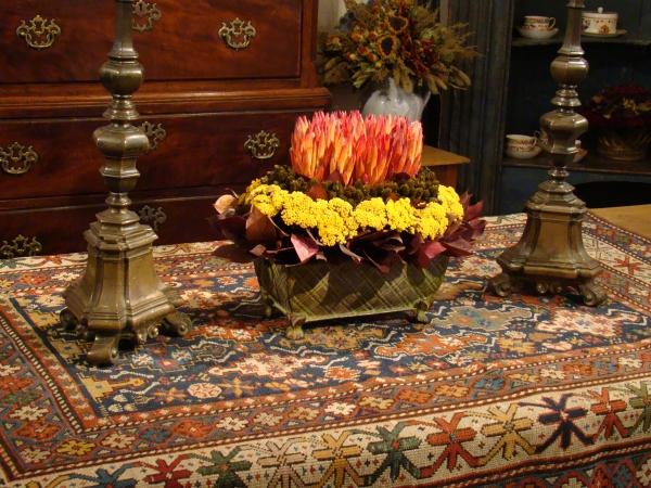 Dried Flowers with Protea, Lemon Leaf,and Yarrow