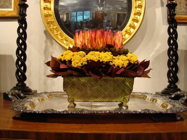 Dried Flowers with Protea, Pimentina, Yarrow, and Lemon Leaf