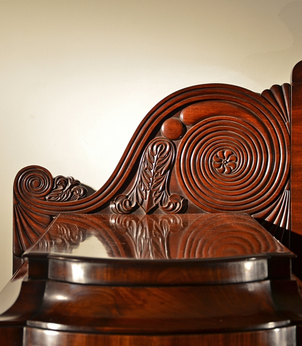 Detail of Carved Mahogany Volute