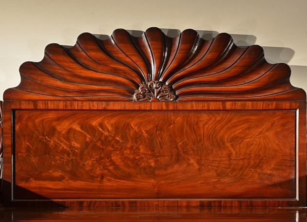 Stylized Mahogany Shell/Fan Backsplash